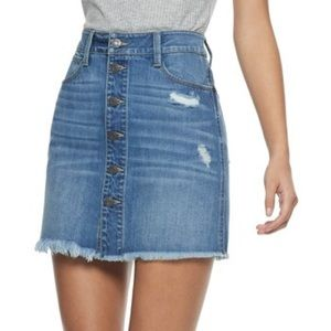 Mudd Button Front Skirt